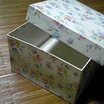 マスキングテープとクラフトテープで空き箱リメイク1 カルトナージュより手軽な作り方