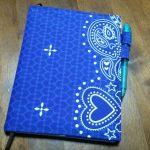 気に入ったスケジュール帳を手作りカバーで使いやすくアレンジ3 縫製、完成、その後の感想